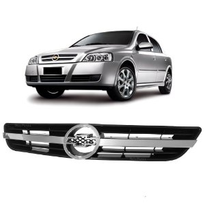 Grade Tela Dianteira Com Friso Cromado Chevrolet Astra 2003 a 2012