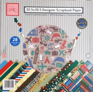 kit Papéis Viagem - OK Scrapbook