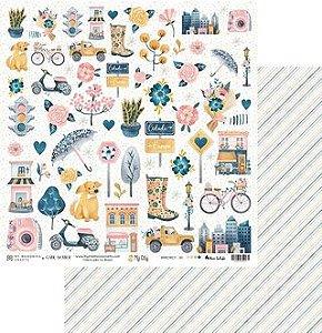 Kit Papéis Scrapbook Coleção My City