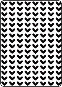 Placa de Emboss - ART E MONTAGEM - Coração A6 PE1-35