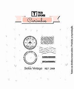 Carimbo Artesanal Selos Vintage 2068