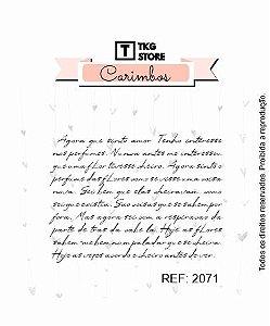 Carimbo Artesanal Manuscrito 2071
