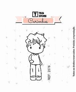 Carimbo Artesanal Menino 2076