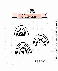 Carimbo Artesanal Arco Irís 2074