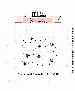 Carimbo Artesanal Background Floco de Neve 2085
