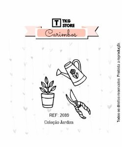 Carimbo Silicone Jardim Regador 2089