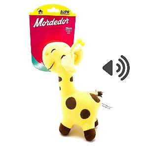 Mordedor Pet brinquedo Pelucia Safari Girafa 26cm AZPR