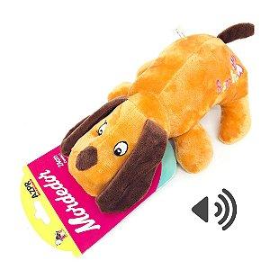 Mordedor Pet Brinquedo Pelucia Cachorro 24cm AZPR