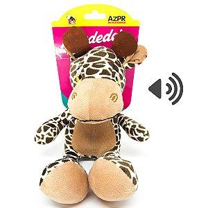 Mordedor Pet Brinquedo Pelucia Safari Girafa 31cm AZPR