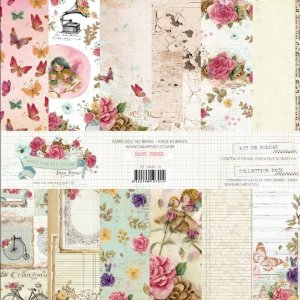 Papel para Scrapbook Dany Peres Kit You Are My Home com 12 Folhas