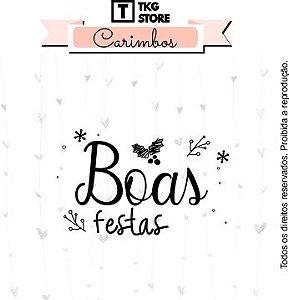 Carimbo Artesanal Boas Festas