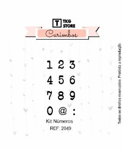Kit Carimbo Números TKG Store 2049