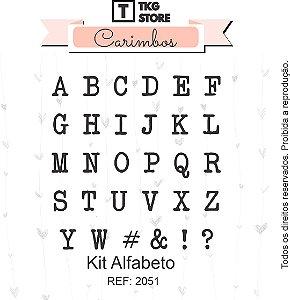 Kit Carimbo Alfabeto TKG Store