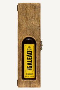 Caixa de Madeira com Visor + Cachaça Galeão Prata
