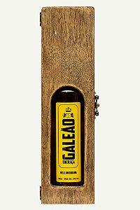 Caixa de madeira com visor