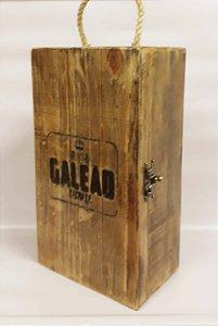 Caixa de Madeira para 2 Garrafas