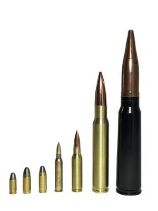 Coleção de Réplicas de Munição de Revolver, Pistola, Fuzil, Metralhadora e Canhão