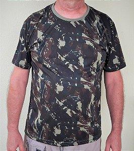 Camiseta Camuflada Militar Exército EB Manga Curta Dry Fit