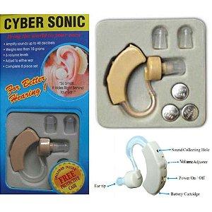 CYBER SONIC Amplificador de Som Mini Auditivo Surdez Aparelho