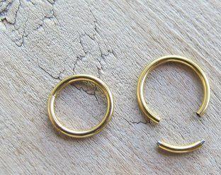 Piercing Segmentado Dourado
