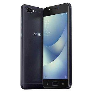 """CELULAR ASUS ZENFONE 4 ZC520KL MAX 16GB / 4G / DUAL SIM / TELA 5.2"""" / CÂMERAS 13MP E 8MP - PRETO"""