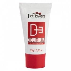 GEL EXCITANTE ESQUENTA ESFRIA DELIRIUM 25G HOT FLOWERS