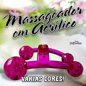 MASSAGEADOR EM ACRÍLICO HOT FLOWERS