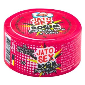 GEL COMESTÍVEL JATO SEX BOOM ESQUENTA, GELA E VIBRA 7G PEPPER BLEND