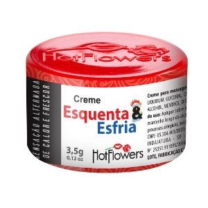 CREME EXCITANTE ESQUENTA E ESFRIA UNISSEX 3,5G HOT FLOWERS