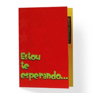 CARTÃO DE PRESENTE ESTOU TE ESPERANDO