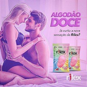 PRESERVATIVO LUBRIFICADO COM AROMA DE ALGODÃO DOCE 3 UNIDADES RILEX