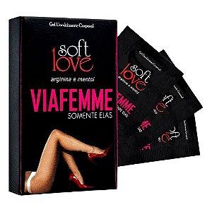 GEL VIA FEMME SOMENTE ELAS COM ARGININA E MENTOL 6G SOFT LOVE