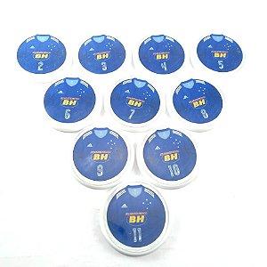 10 Botões - Acrílico Cristal 49mm - Cruzeiro