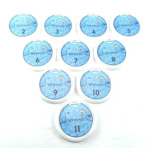 10 Botões - Acrílico Cristal 49mm - Manchester City