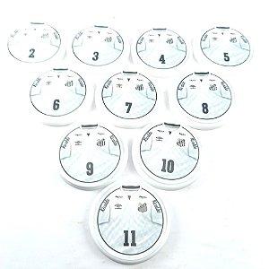 10 Botões - Acrílico Cristal 49mm - Santos