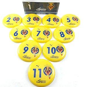 Time De Futebol De Botão - Vidrilha 45mm - Villarreal 2005