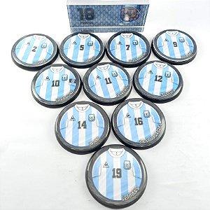 Time Futebol de Botão - Acrílico Cristal 49mm - Argentina 86