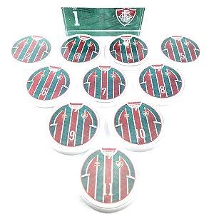 Time Futebol de Botão - Acrílico Cristal 49mm - Fluminense