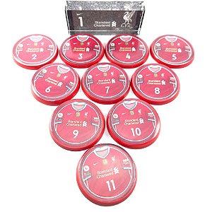 Time Futebol de Botão - Acrílico Cristal 49mm - Liverpool
