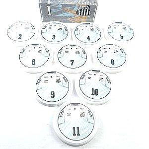 Time Futebol de Botão - Acrílico Cristal 49mm - Santos