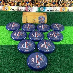 Time De Futebol De Botão PSG - Vidrilha 45mm