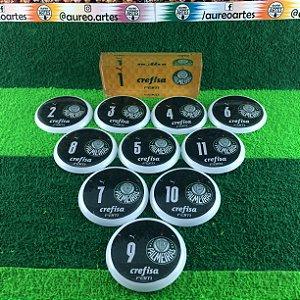 Time De Futebol De Botão - Vidrilha 45mm - Palmeiras