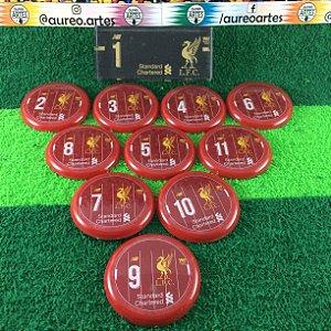 Time De Futebol De Botão Liverpool - Vidrilha 45mm