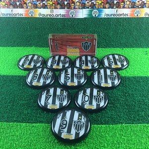 Time De Futebol De Botão - Vidrilha 45mm - Atlético-MG
