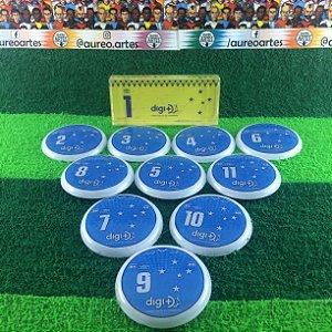 Time De Futebol De Botão - Vidrilha 45mm - Cruzeiro