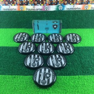Time De Futebol De Botão - Vidrilha 45mm - Botafogo