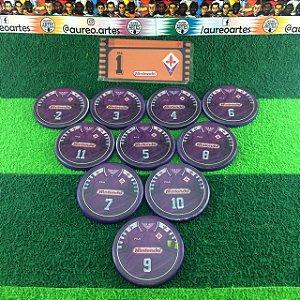 Time de Futebol de Botão - Acrílico Cristal 49mm - Fiorentina