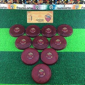 Time de Futebol de Botão - Madrepérola 49mm - Placa Única - Roma