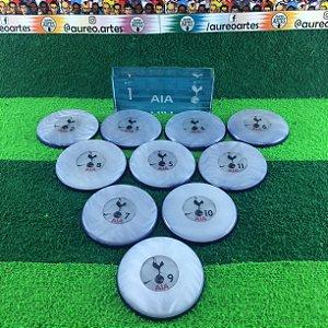 Time de Futebol de Botão - Madrepérola 49mm - Times Europeus