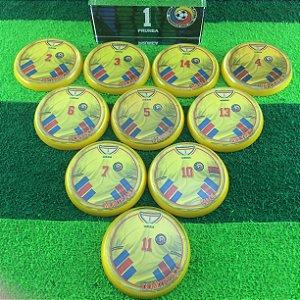 Time de Futebol de Botão - Acrílico Cristal 49mm - Romênia 1994